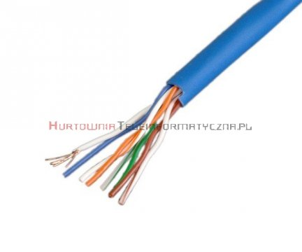 Kabel skrętka UTP linka, niebieska
