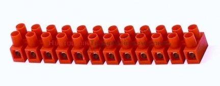 Złączka listwa zaciskowa 12-torowa 4mm2, pomarańczowa