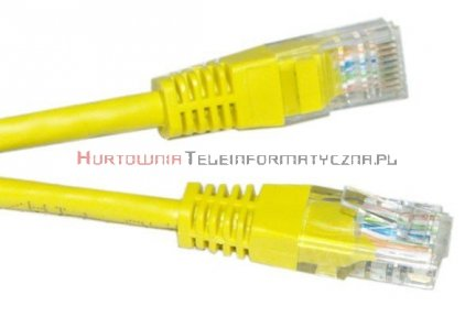 UTP Patch cord 5,0 m. Kat.5e żółty