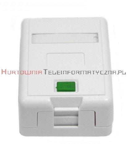 Moduł gniazdo natynkowy na 1 x keystone z etykietą i ID