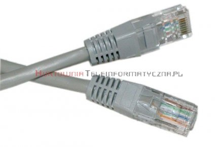 UTP Patch cord 0,5 m. Kat.5e szary
