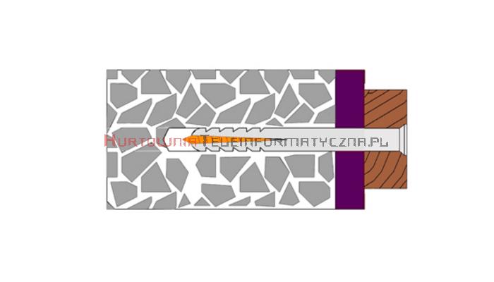 TECHNOX Kołki szybkomontażowe 6x40 z wąskim kołnierzem (100 szt)