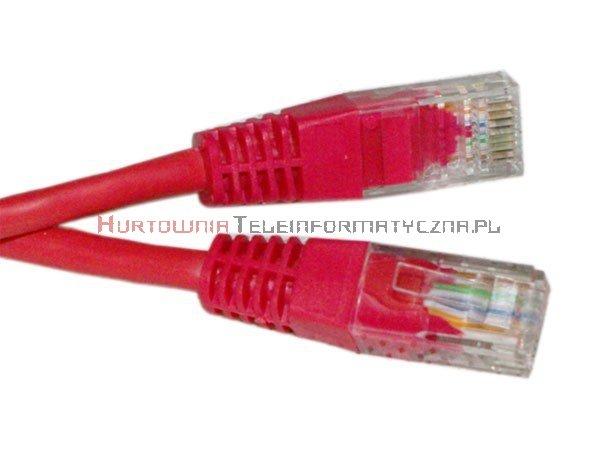 UTP Patch cord 2,0 m. Kat.5e czerwony