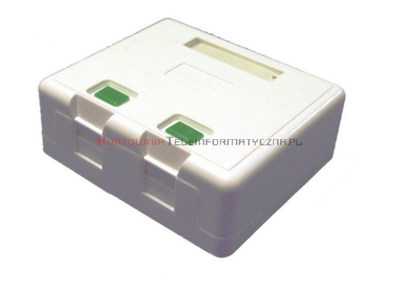 Moduł puszka/gniazdo, natynkowy na 2 x keystone z etykietą i ID
