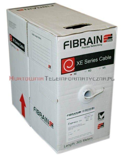 FIBRAIN DATA Express kat.5e U/UTP 200MHz, drut, PVC szary