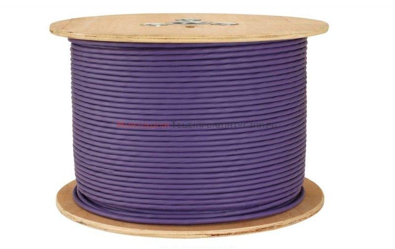 SOLARIX kabel F/UTP, drut, LSOH Dca, fioletowy, kat.6