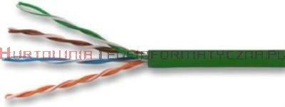 Kabel skrętka UTP kat.5e, linka, zielona