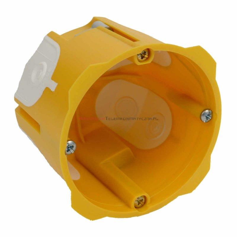 KOPOS Puszka podtynkowa 1x60mm do regips, 60mm IP30 żółta