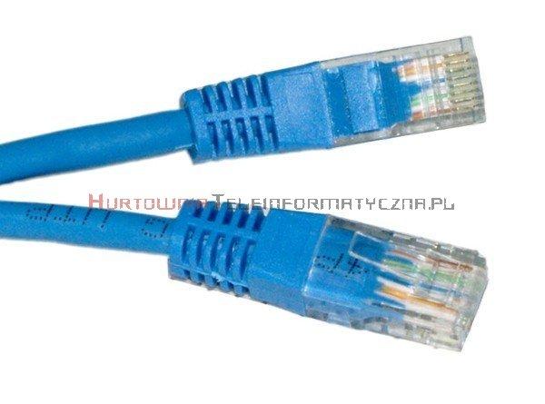 UTP Patch cord 1,0 m. Kat.5e niebieski