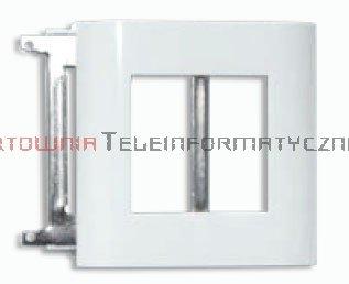 SOLARIX ramka 2-modułowa, biała z supportem metalowym, 45x45 mosaic