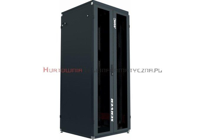 """MMC Szafa RACK Serwer 19"""" stojąca 47U 800x1000 drzwi dwuskrzydłowe perforowane, czarna"""