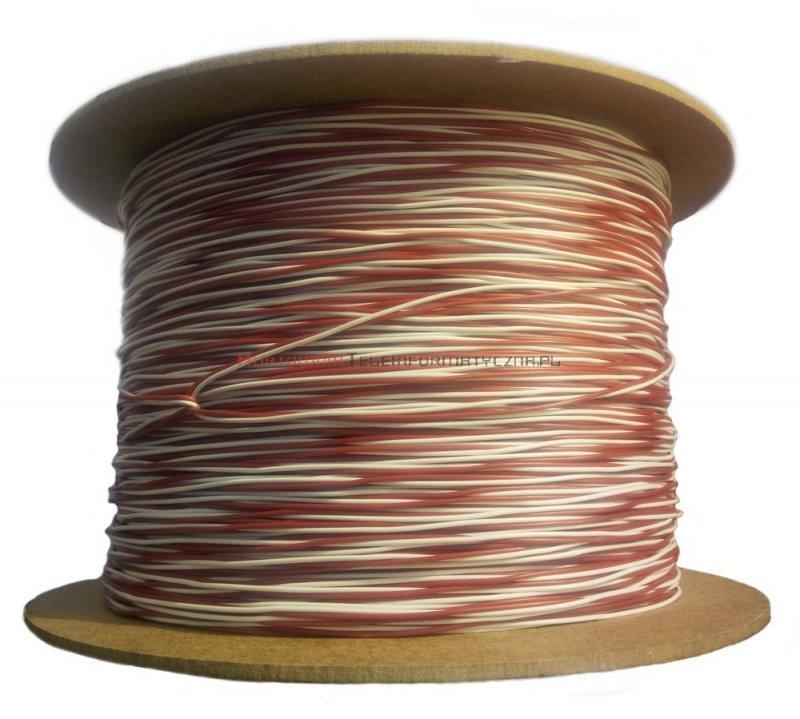 Kabel telefoniczny TDY 2x0,5 krosówka biało-czerwony (500 m)