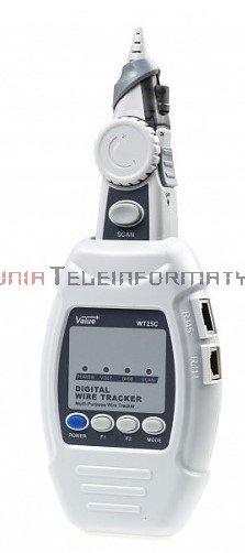Cyfrowy szukacz par przewodów i kabli LAN, WT25C, wskaźnik LED
