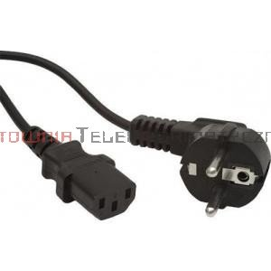 Kabel zasilający komputerowy z uziemieniem 230/C13 - 1,5m