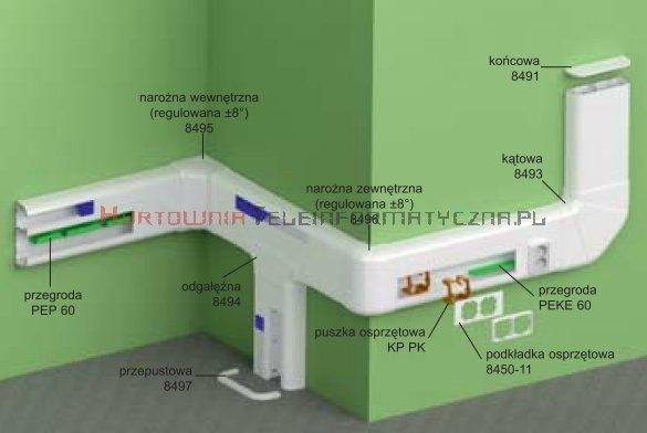 KOPOS Pokrywa narożna zewnętrzna / Narożnik zewnętrzny PK210x70D