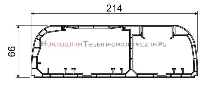 KOPOS Kanał / Koryto kablowe PK210x70D 2m