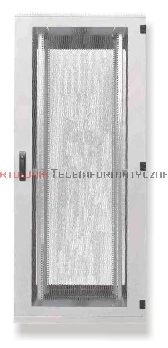 BKT Serwerowa szafa ramowa stojąca Standard II 42U, 800/1200/1980, szer./gł./wys. mm. drzwi perforowane, RAL 7035 ( konstrukcja spawana - nośność 1000 kg)