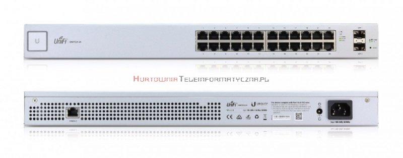 UBIQUITI Switch zarządzalny 24-port Gigabit, 2 x SFP