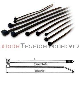 Opaska kablowa czarna UV 2,5x200 (100szt.)