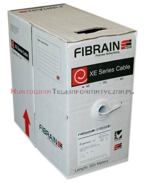 FIBRAIN DATA Express kat.5e U/UTP 200MHz, drut, PVC szary (305m)