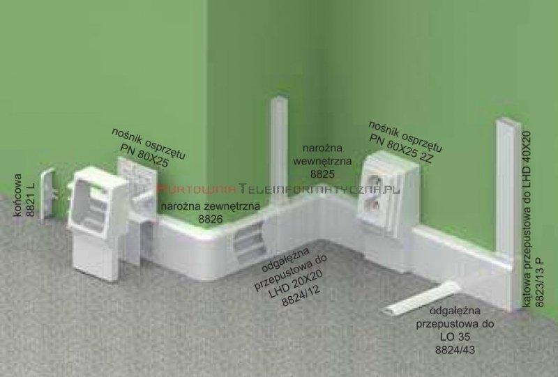KOPOS Pokrywa narożna zewnętrzna / Narożnik zewnętrzny LP80x25