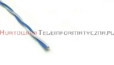 Kabel telefoniczny TDY 2x0,5 krosówka biało-niebieski (500 m)