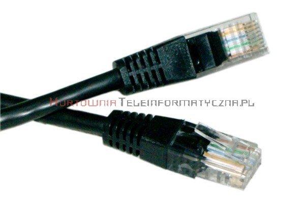 UTP Patch cord 3,0 m. Kat.5e czarny