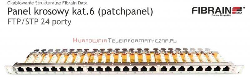 FIBRAIN DATA Quick FTP Patch Panel 0,5U 24 ports RJ45 Kat.6+ z półką