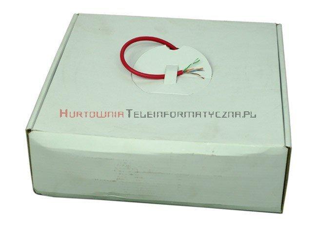 Kabel skrętka UTP kat.5e, linka, czerwona