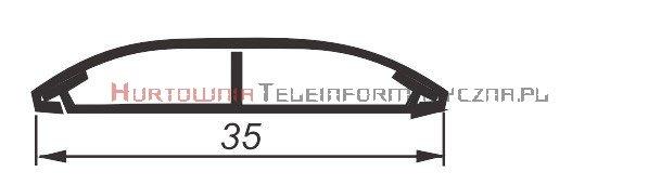 EMITER kanał napodłogowy PCW LN 35x10 P/ Sz / Z jedną przegrodą