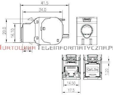 FIBRAIN DATA Express FTP keystone RJ45 Kat. 5e+ beznarzędziowy