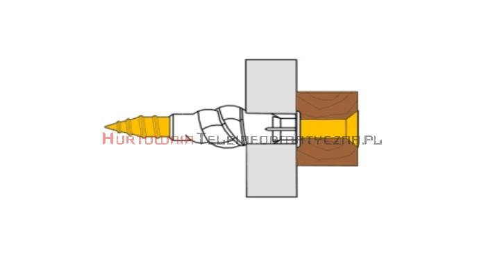 TECHNOX P-TUZ 6/35 Kołki rozporowe plastikowe 6x30 + wkręt 3,5x35 (50szt - torebka foliowa)