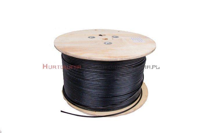SecurityNET kabel F/UTP kat.5e, drut, PVC/PE zewnętrzny żelowany, czarn