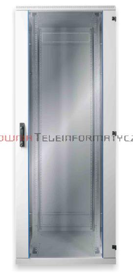 BKT Szafa ramowa stojąca, 42U, 600/900/1980, szer./gł./wys.  mm. drzwi blacha/szkło, RAL 7035 ( konstrukcja spawana - nośność 600 kg )