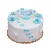 Dekoracja cukrowa na tort chrzest KSIĄŻECZKA Z DZIECKIEM niebieska