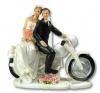 Figurka na tort ślub PARA MŁODA na motorze