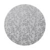Podkład pod tort okrągły gruby (12mm) SREBRNY 35cm - Modecor