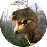 Hokus - opłatek na tort okrągły Tyranozaur 1