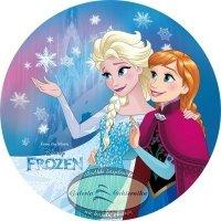 Modecor - opłatek na tort okrągły Kraina Lodu 1 (Frozen)