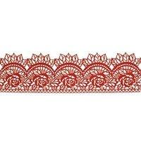 Cukrowa jadalna KORONKA do dekoracji tortu 120cm CZERWONA