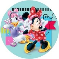 Modecor - opłatek na tort Myszka Minnie i Daisy