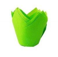Papilotki na muffinki TULIPAN zielone 50 szt
