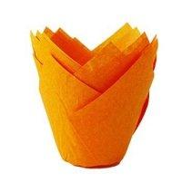 Papilotki na muffinki TULIPAN pomarańczowe 50 szt