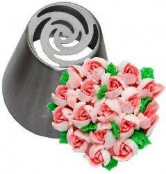 Tylka cukiernicza rosyjska stal nierdzewna BNO12 róża
