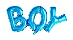 Balon foliowy - BOY - niebieski 27 x 70 cm