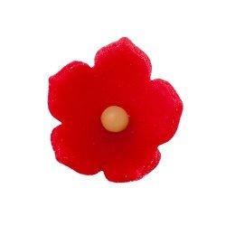 HOKUS - Kwiatek firmowy czerwony - Kwiaty cukrowe 10 szt.