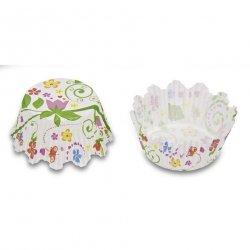 Papilotki, foremki do muffinek Kwiaty 50 mm 100 szt