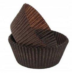 Papilotki foremki na muffinki 35mm brązowe 100szt