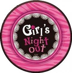 Talerzyki papierowe Girl's Night Out 18 cm 6 szt.
