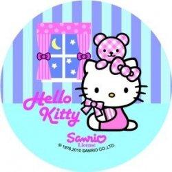 Modecor opłatek na tort Hello Kitty Noc 14,5cm